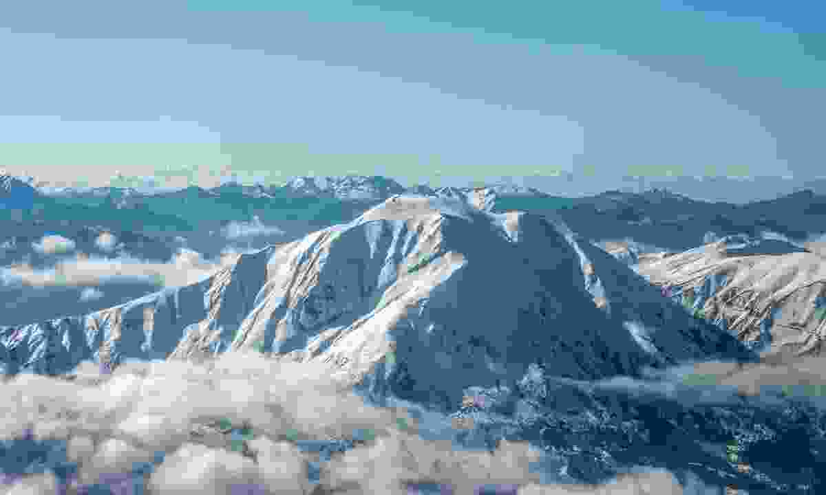 Snow-caked Mount Velouchi
