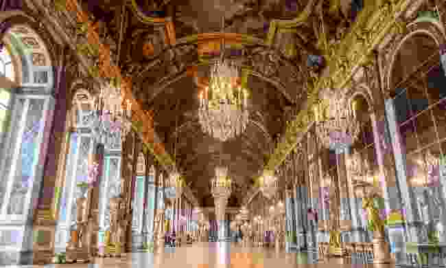 The famous Hall of Mirrors in the Palace of Versailles, France (Shutterstock)