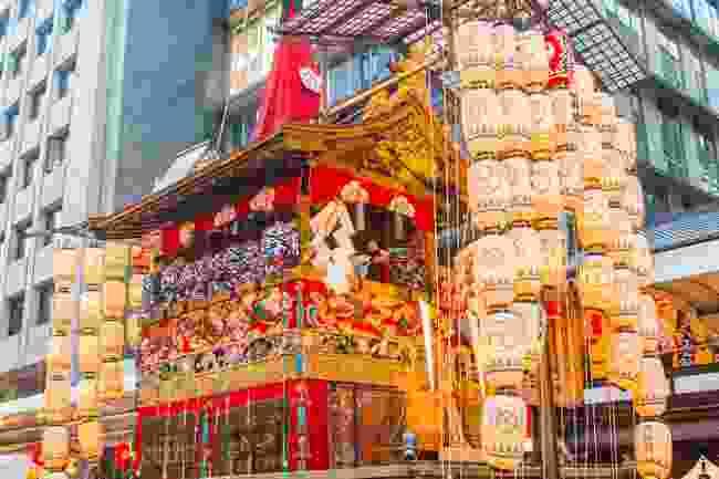 Lanterns on a float, Kyoto, Japan (Shutterstock)