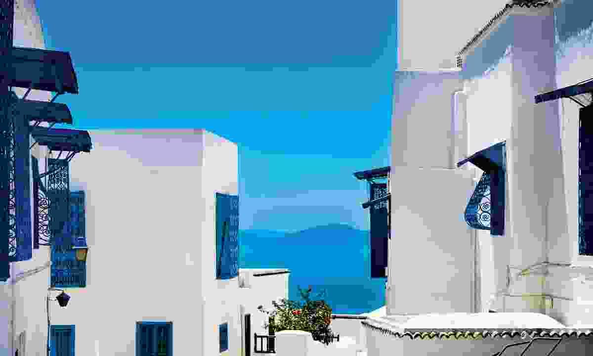 White buildings in Sidi Bou Said (Dreamstime)
