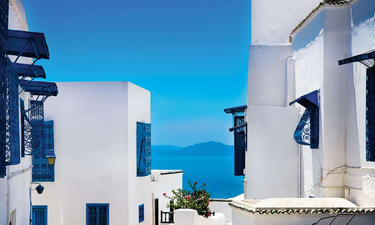 White buildings in Sidi Bou Said (Dreamstime)