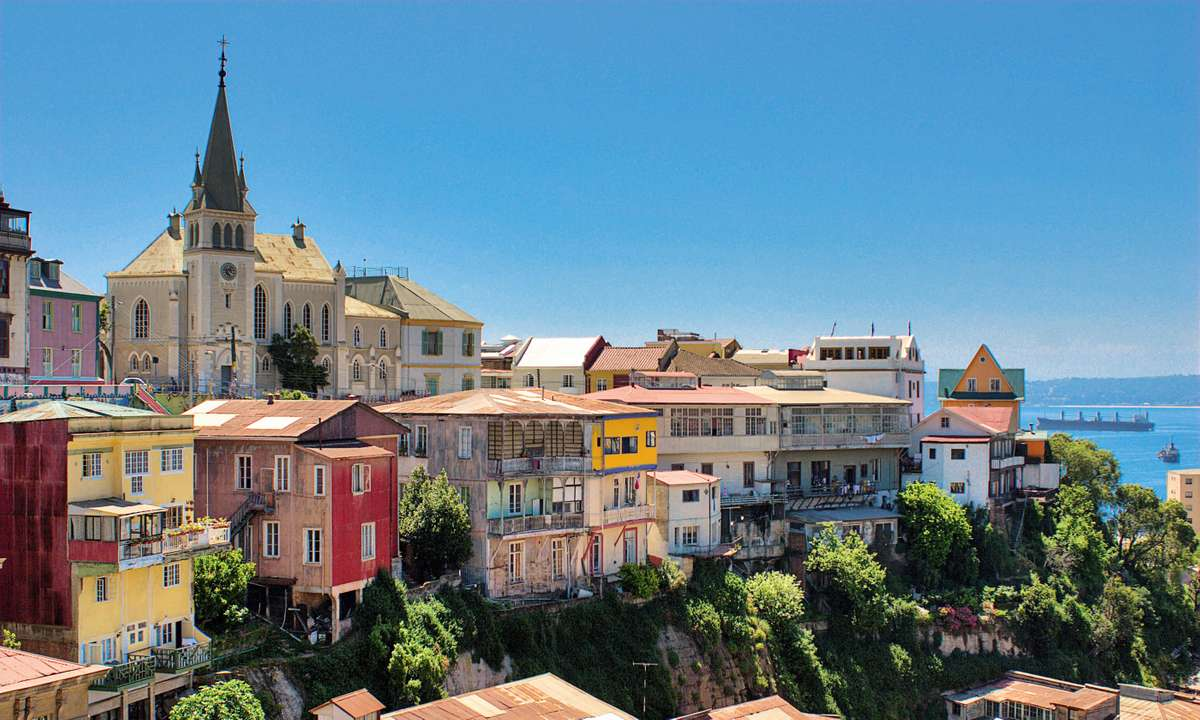 Ocean overlook in Valparaíso, Chile