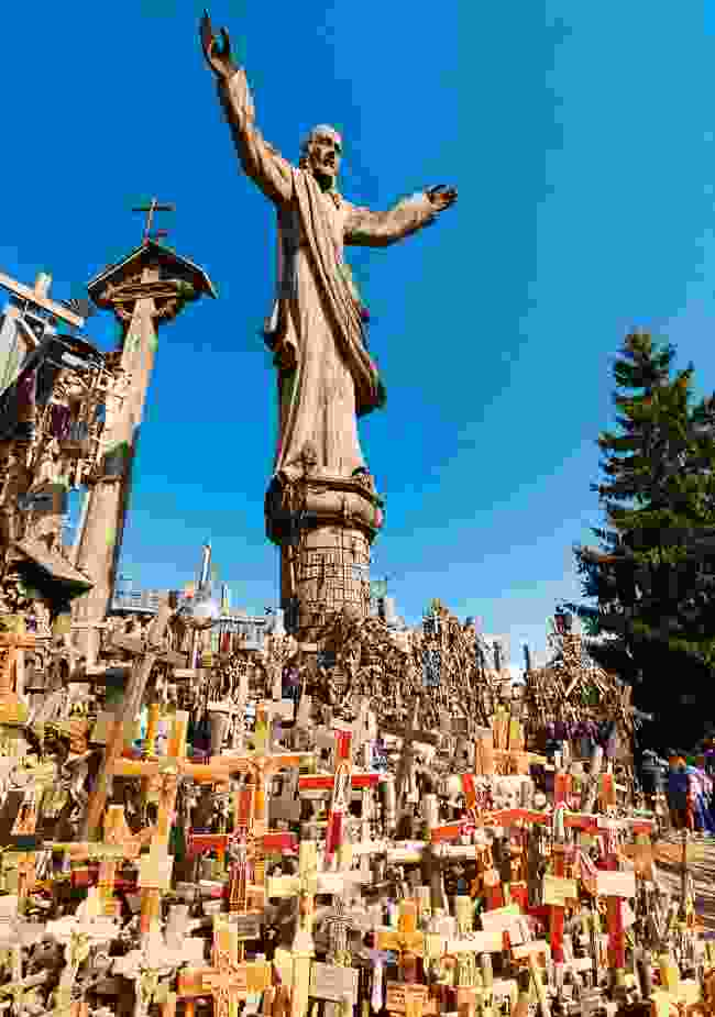 The Hill of Crosses holds some 100,000 crucifixes, and was repeatedly destroyed in the dark days of the USSR (Shutterstock)