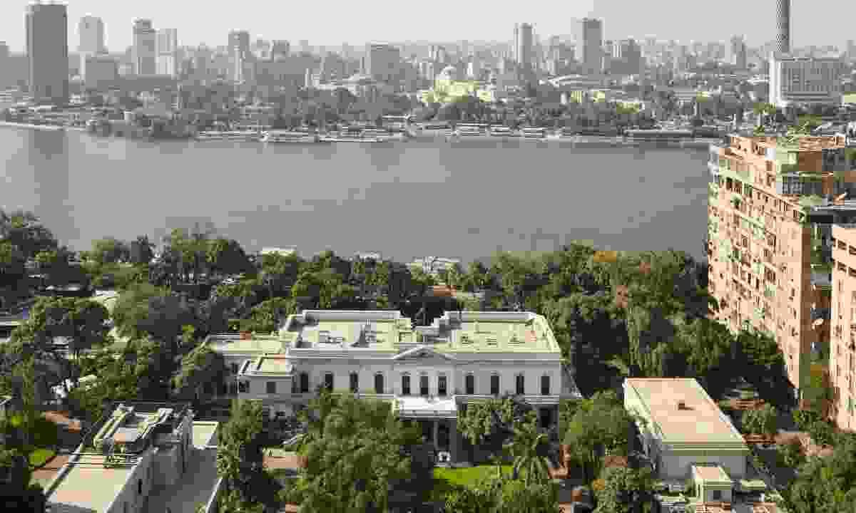 Grounds of the British Embassy, next to the Nile (Luke White)