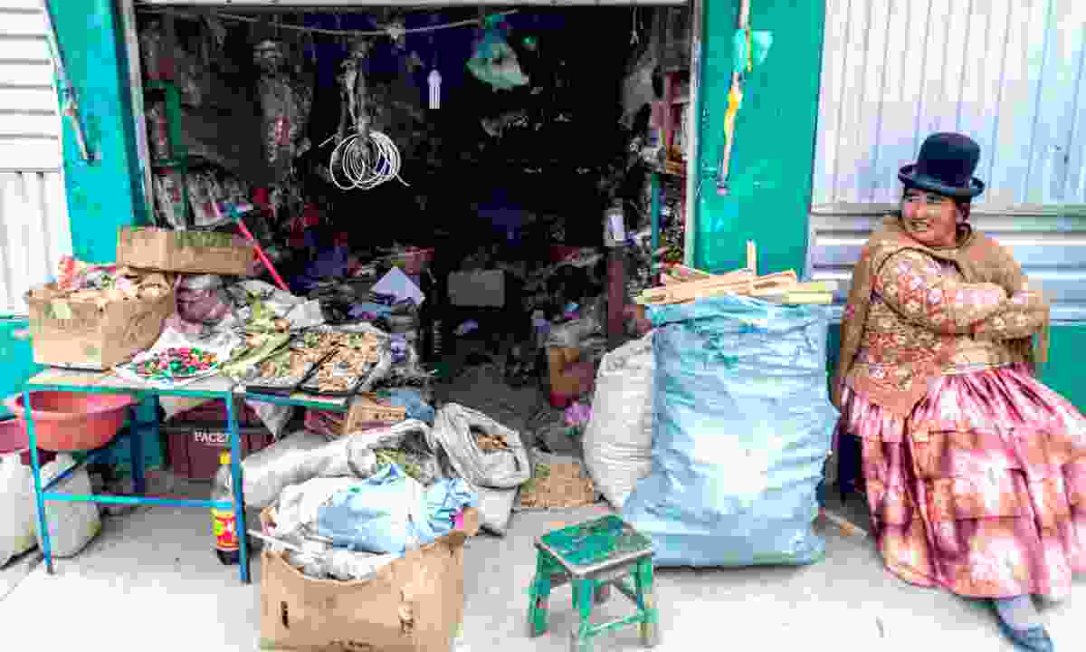 Small stall at a local witch market in El Alto, Bolivia (Dreamstime)