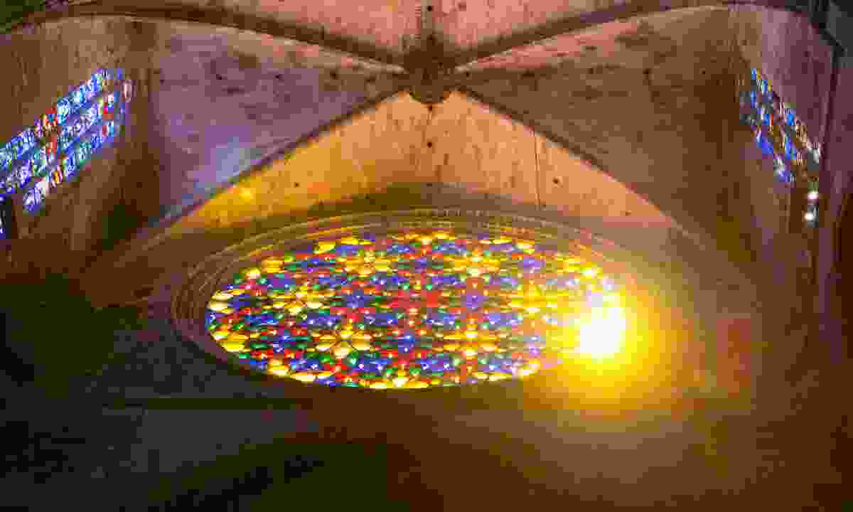 Sunshine through a stained-glass window in Palma Cathedral (Dreamstime)