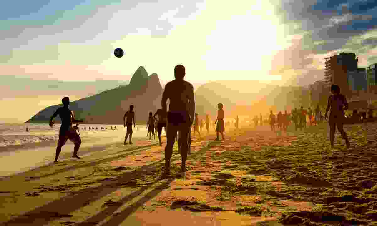 Beach football on Ipanema Beach (Dreamstime)
