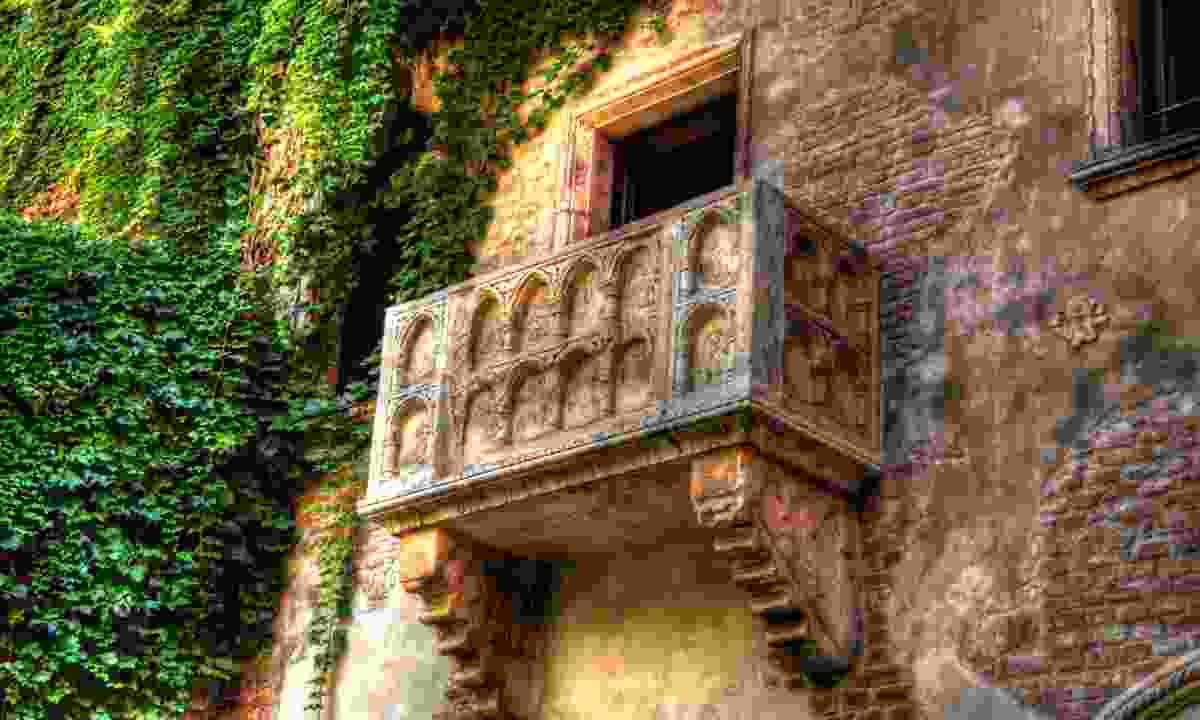 Juliet's balcony, Verona (Dreamstime)