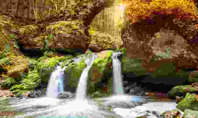 An autumnal waterfall in Luxembourg (Dreamstime)