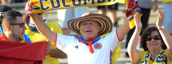 Colombian football fan (Dreamstime)