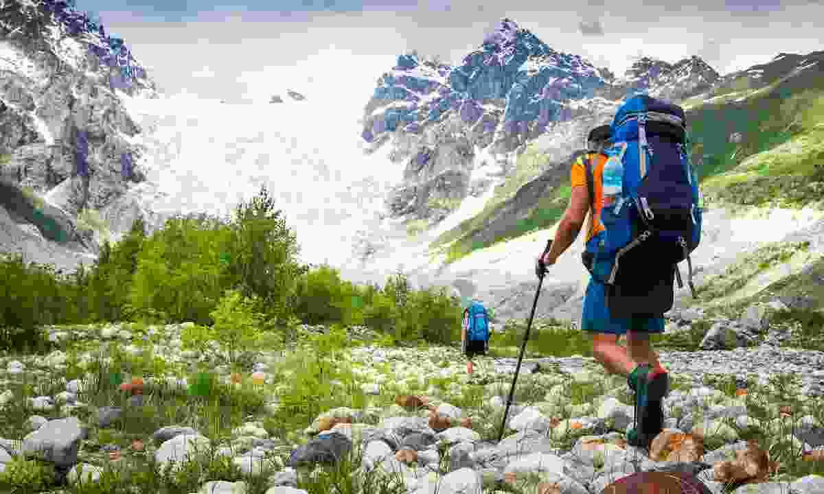 Trekking in the wild Svaneti region of Georgia (Shutterstock)