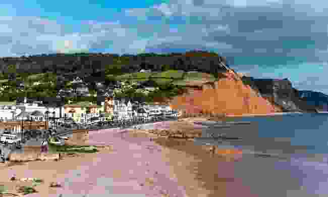 Sidmouth and Salcombe Hill Cliff from the viewpoint in Connaught Gardens (Shutterstock)