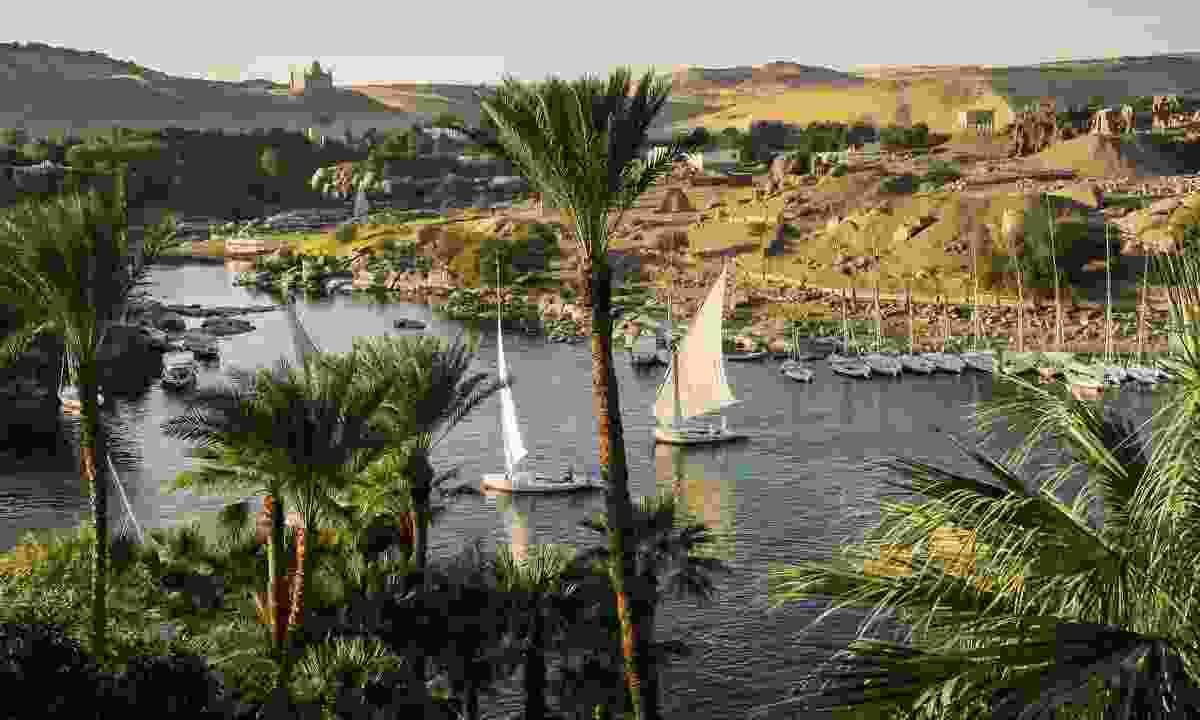Feluccas on the Nile in Aswan (Shutterstock)