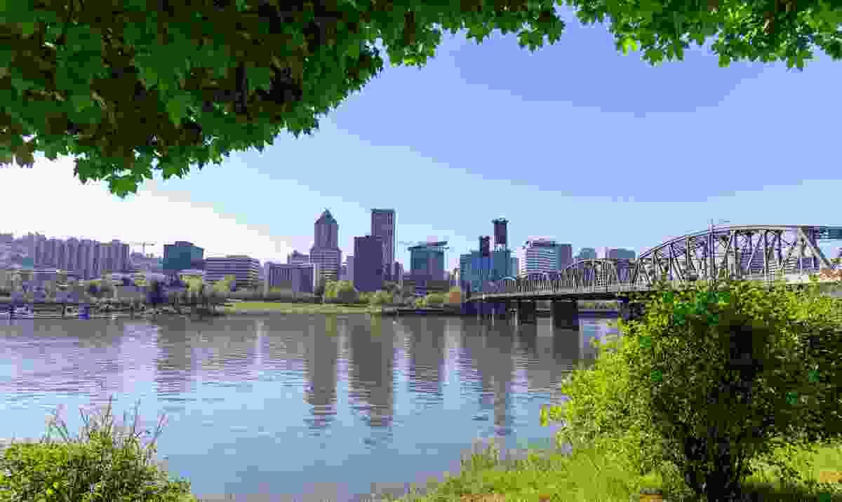 Waterfront park in downtown Portland, Oregon (Dreamstime)