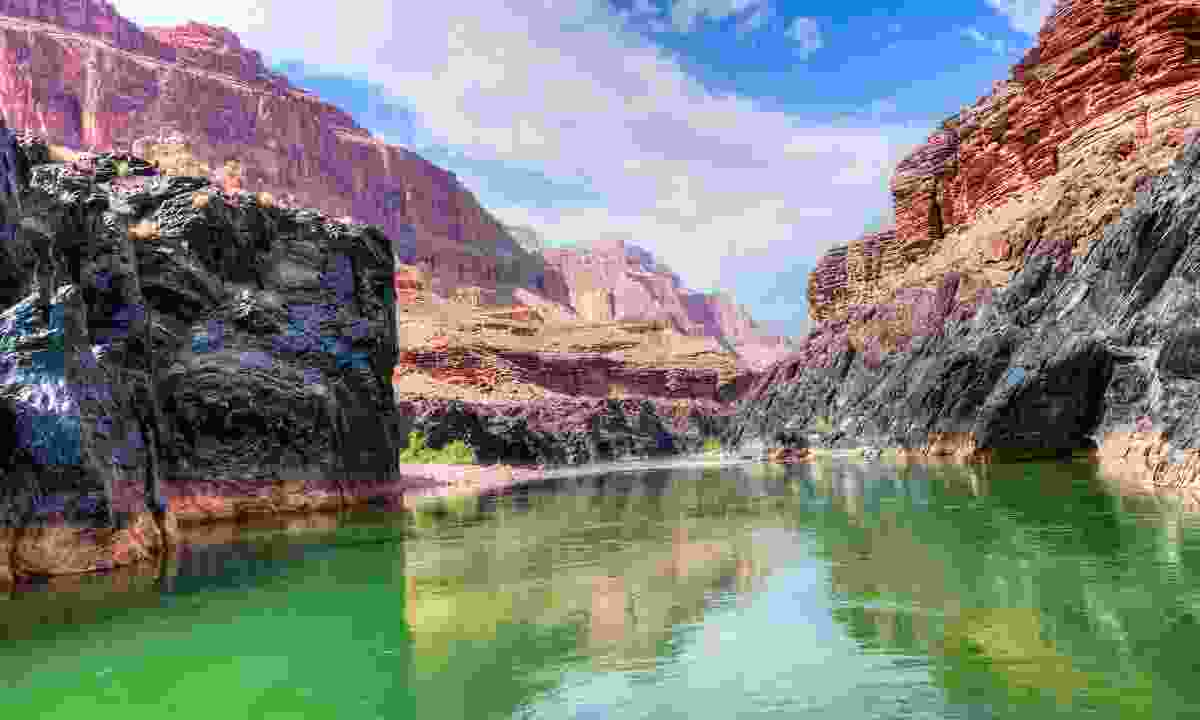 The Colorado River running through the Grand Canyon (Dreamstime)
