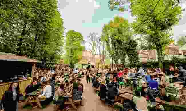 The huge beer garden at the Duke of Edinburgh (The Duke of Edinburgh)