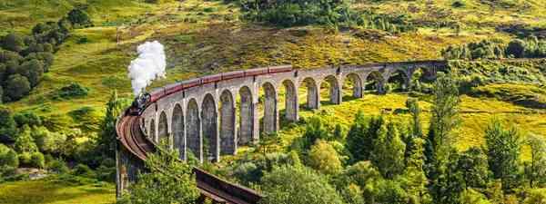 Travel across Scotland by train