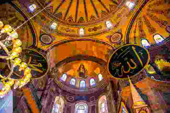 The interior of Haiga Sophia Cathedral, Istanbul (Shutterstock)