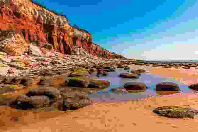 The red and ginger cliffs of Hunstanton, Norfolk (Shutterstock)