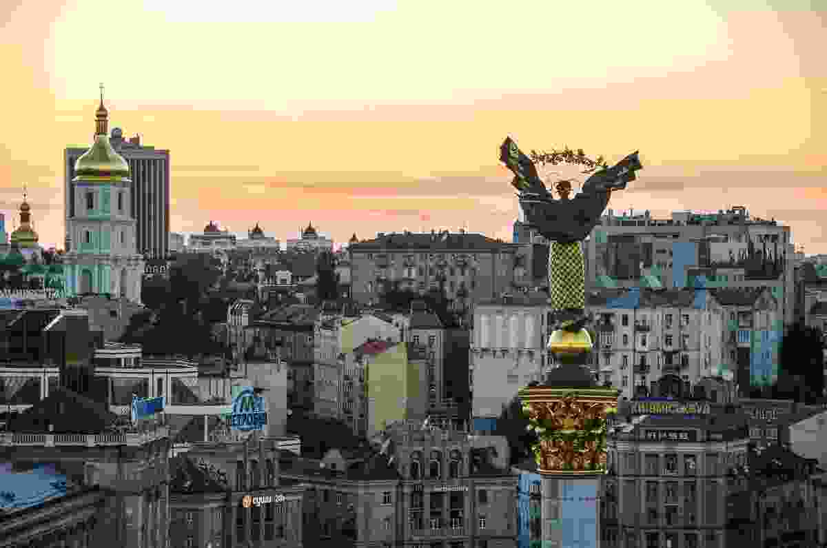 A view of Independence Square, Kiev, Ukraine, from a height  (Dreamstime)