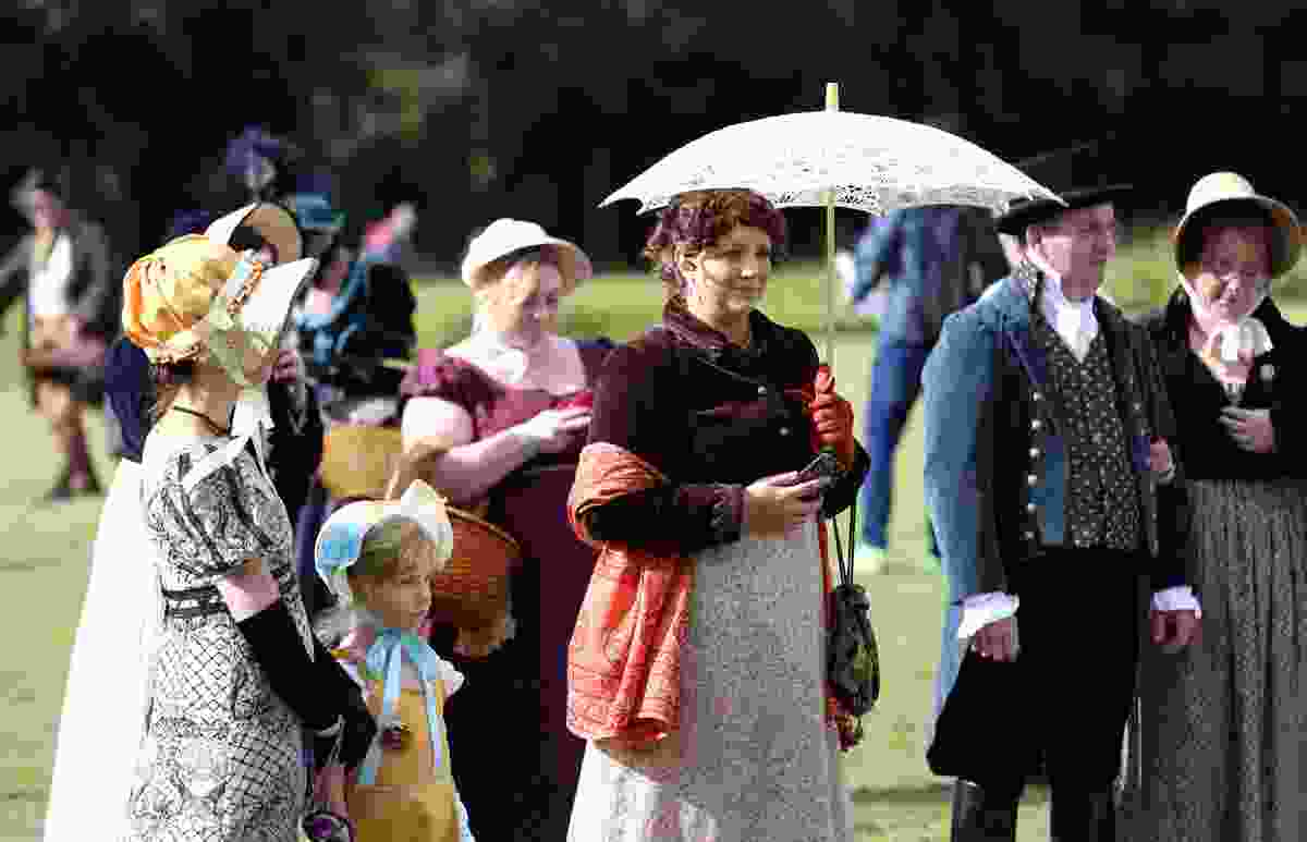 Fans in costume at the annual Jane Austen Festival in Bath (Shutterstock)