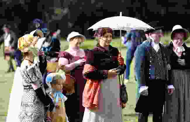Fans in costume at the annual Jane Austen Festival in Bath (Shutterstock)
