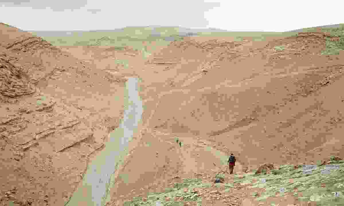 Trekking Masar Ibrahim al-Khalil trail (Leon McCarron)