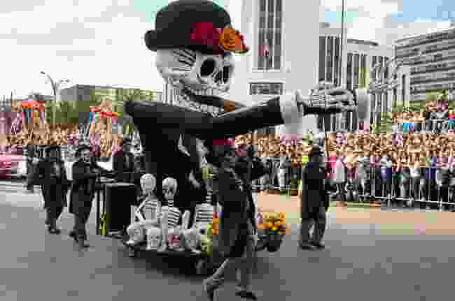 The Day of the Dead parade in Mexico City (Shutterstock)