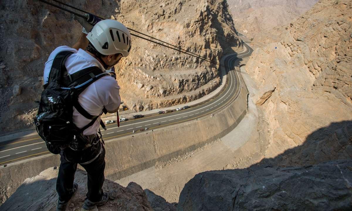 Ras Al Khaimah's newly opened via ferrata (Ras Al Khaimah Tourist Board)