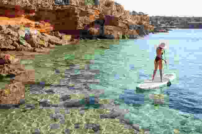 Enjoy the water activities on offer in Formentera (Cala Saona)