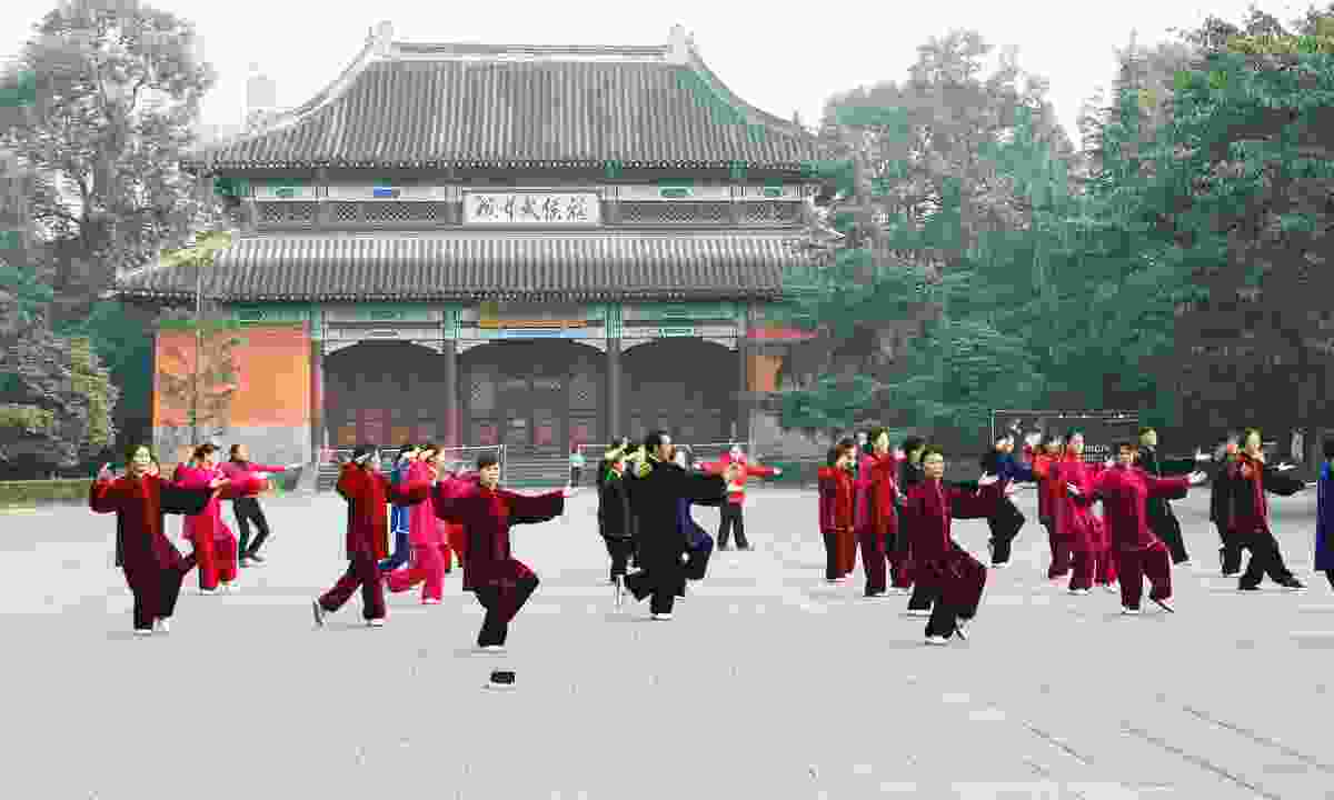 Tai Chi practice (Dreamstime)