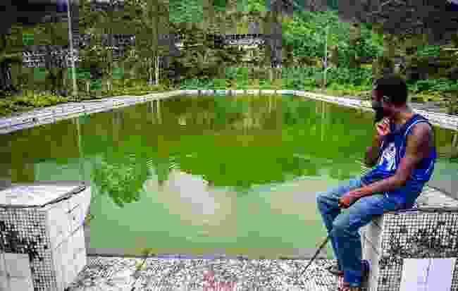 Panguna Mine Fish pool (Mark Stratton)
