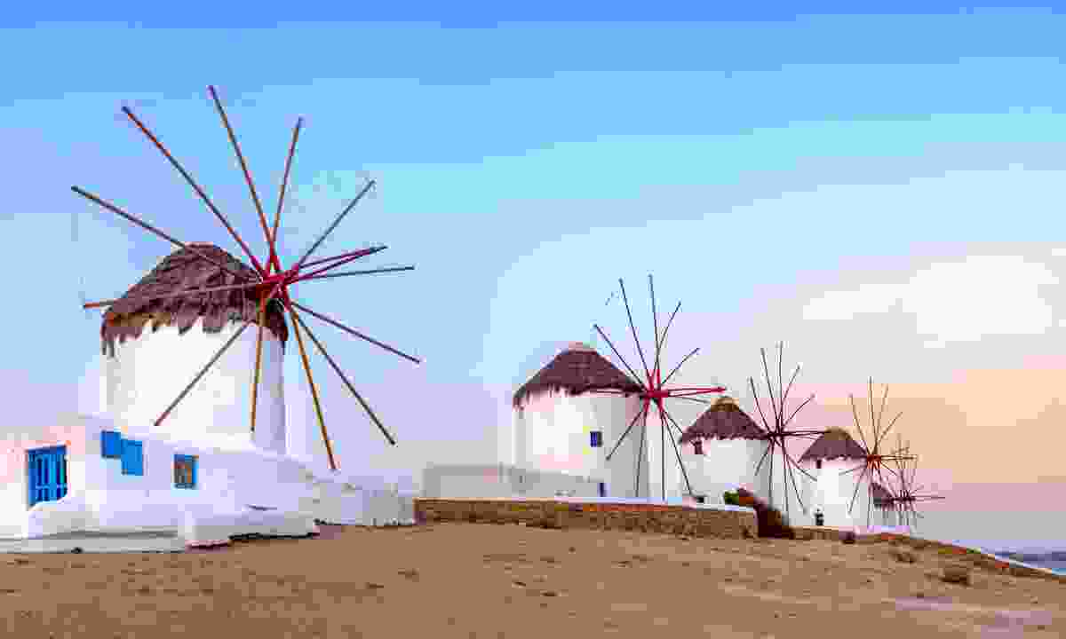 Greek windmills on Mykonos (Dreamstime)