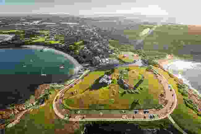 Aerial view of La Perouse with Congwong Bay on the right (Destination NSW)