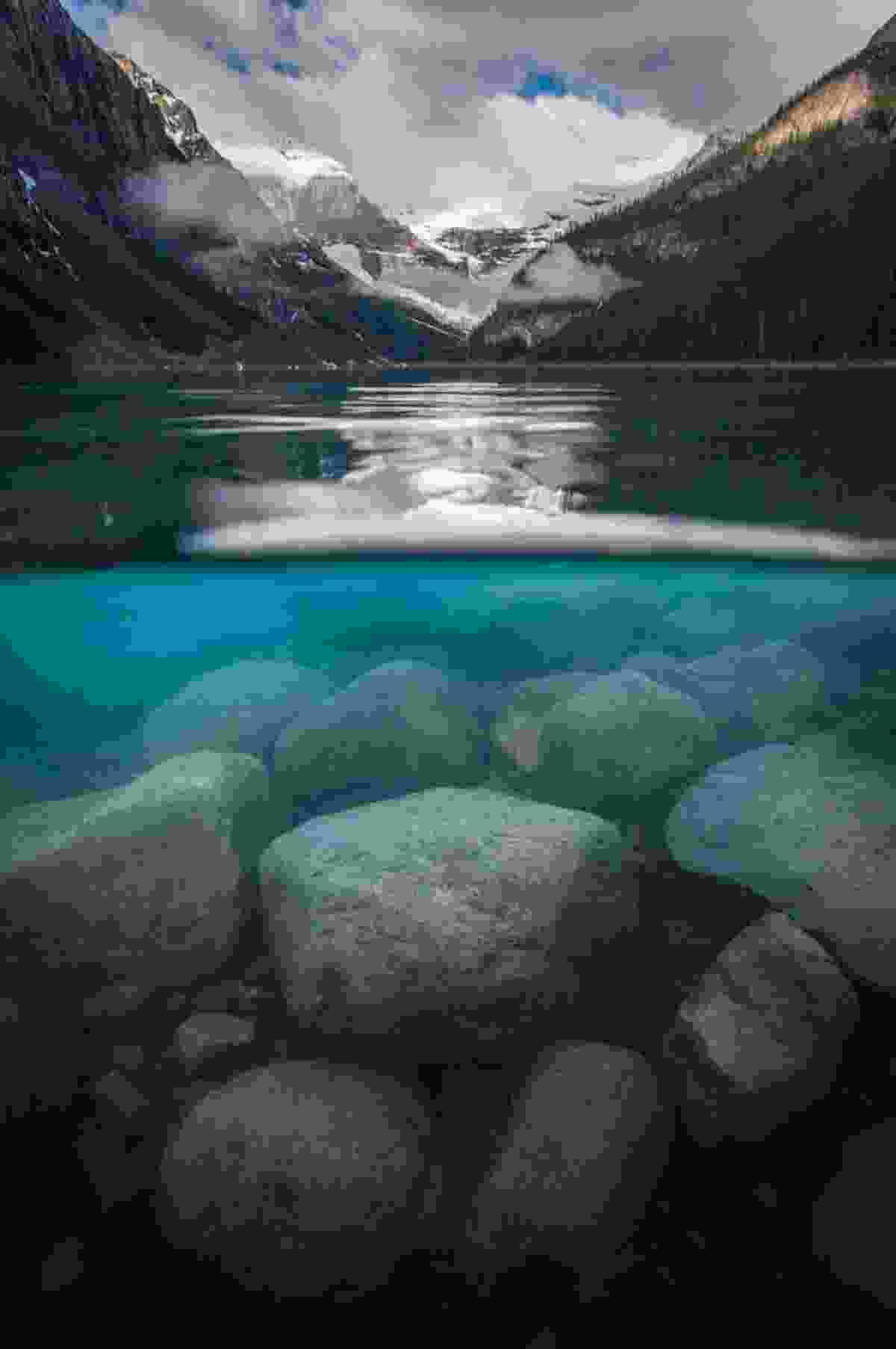 Underwater Look at Lake Louise (Paul Zizka)
