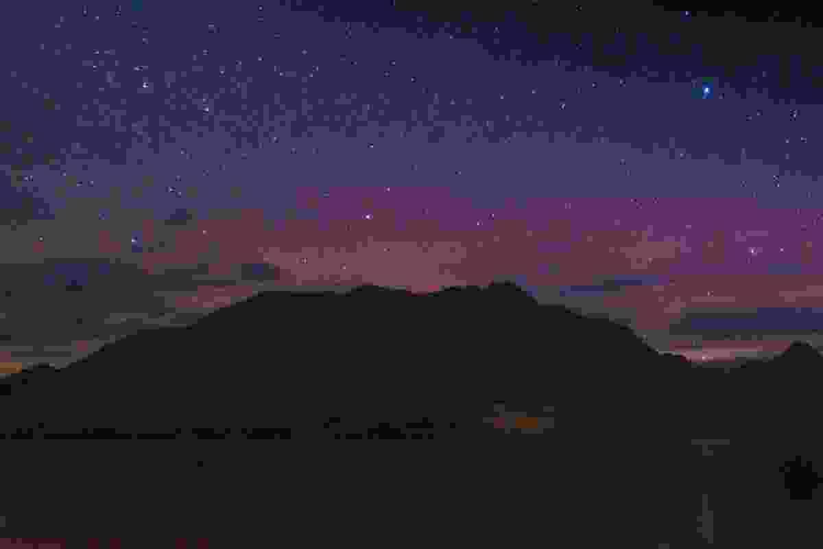 The aurora over Cecil Peak, in Queenstown, New Zealand (Shutterstock)