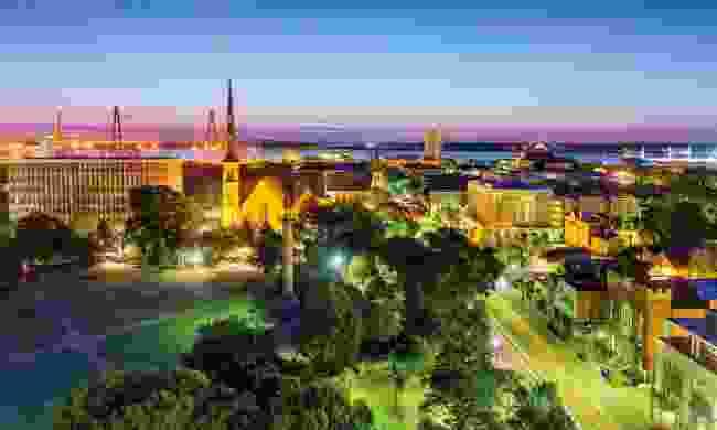 Charleston, South Carolina at night (Shutterstock)