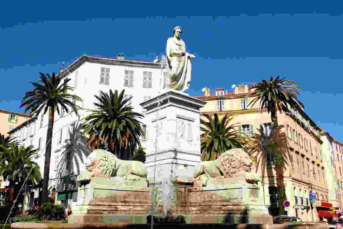 Napoleon and the Four Lions in Ajaccio, Corsica (Shutterstock)