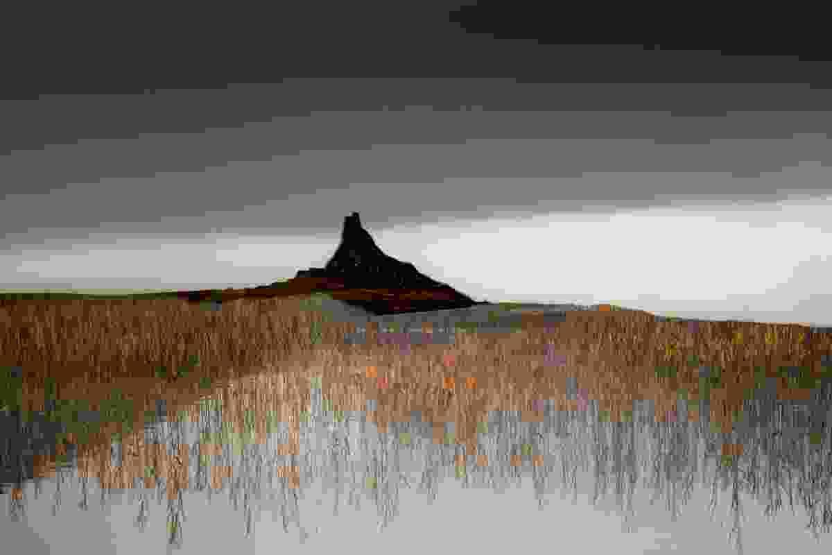 Approaching Lindisfarne, Lindisfarne Castle, Northumberland (Valda Bailey)