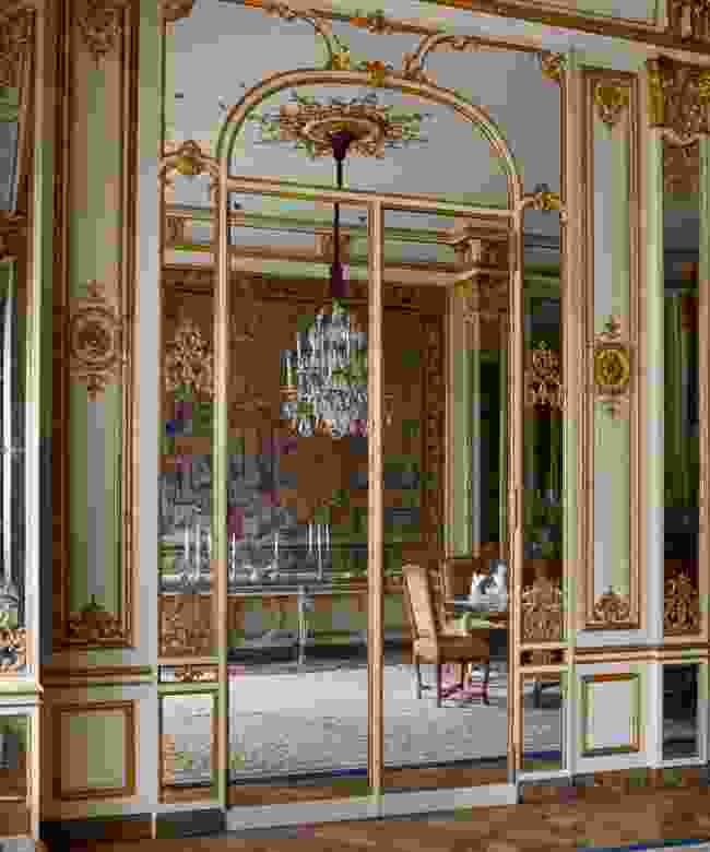 Gilt and glass in the dining room, Brussels (Luke White)