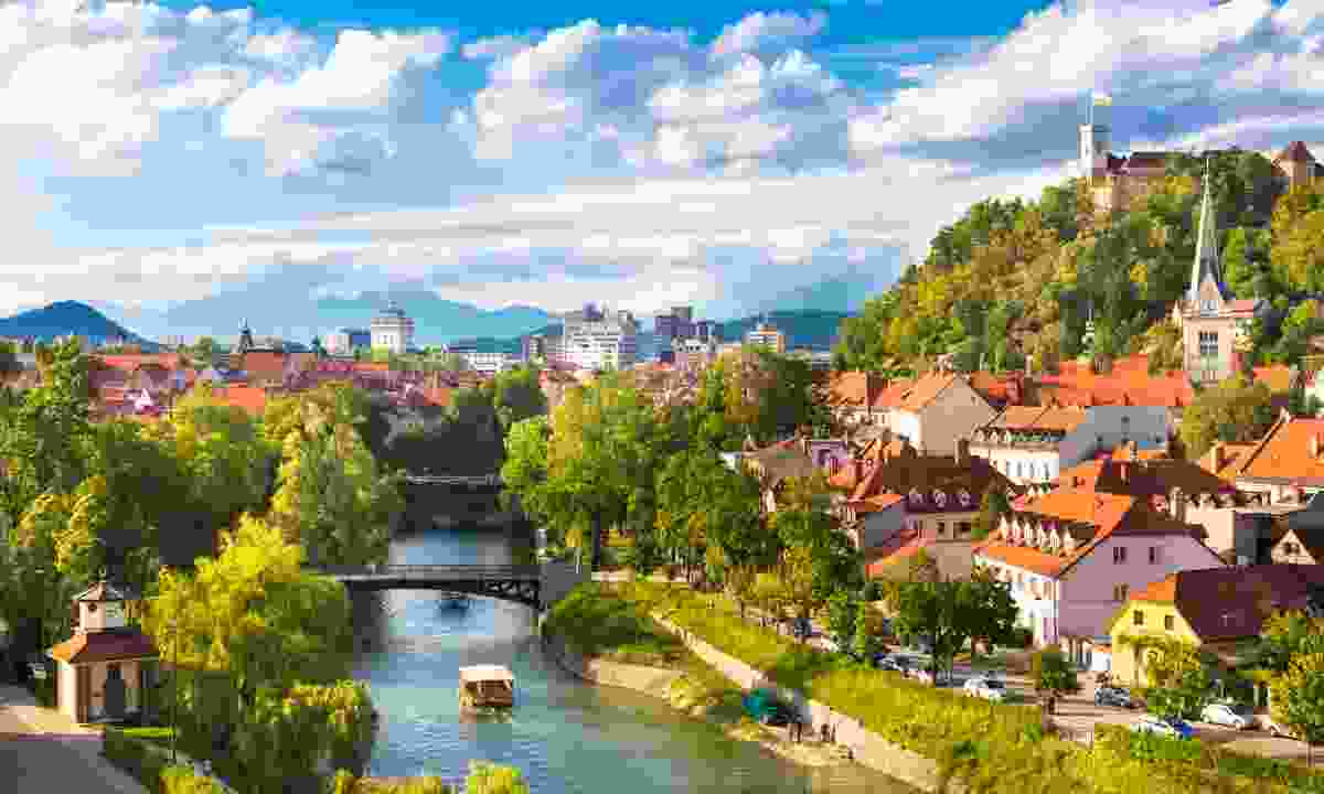 Ljubljana in the sun (Dreamstime)