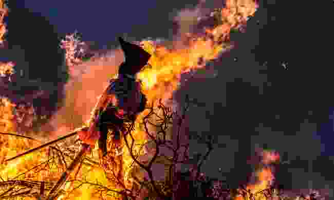 Burning a witch effigy is a Danish midsummer tradition (Dreamstime)