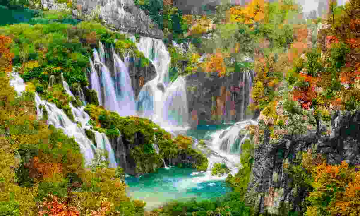 The waterfalls in Plitvice National Park (Dreamstime)