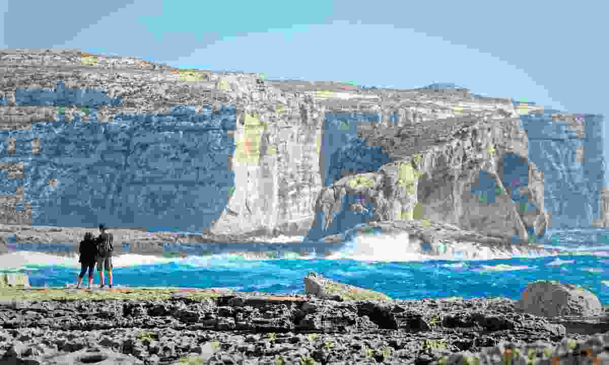 Walking along the cliffs of San Lawrenz, Gozo (Dreamstime)
