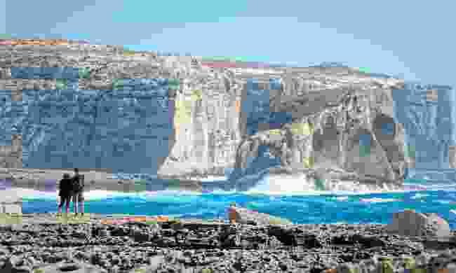 Walking along the cliffs of San Lawrenz, Gozo (Dreamstime)