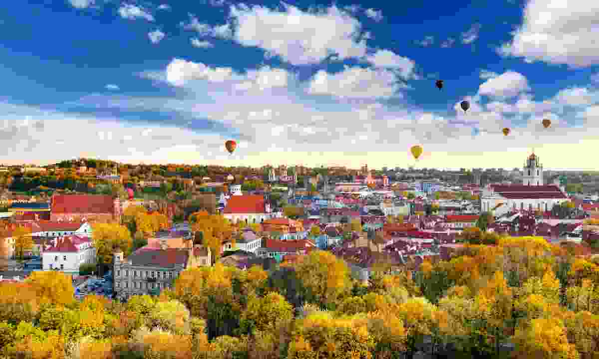 Hot air balloons over Vilnius (Dreamstime)