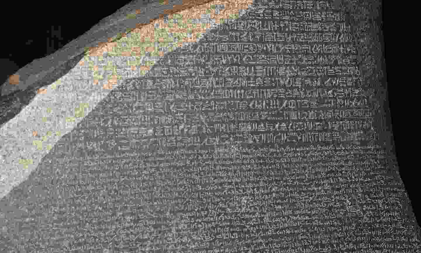 Close up of the Rosetta Stone (Dreamstime)