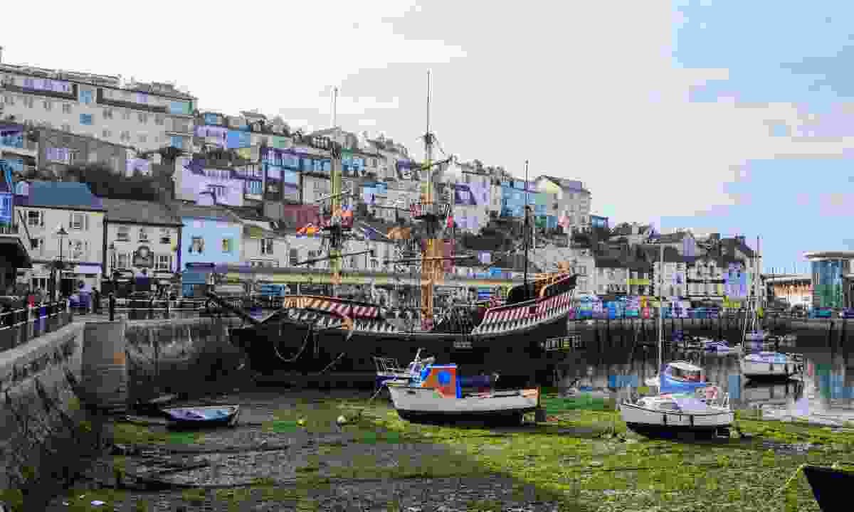 The Golden Hind moored in the harbour at Brixham (Shutterstock)