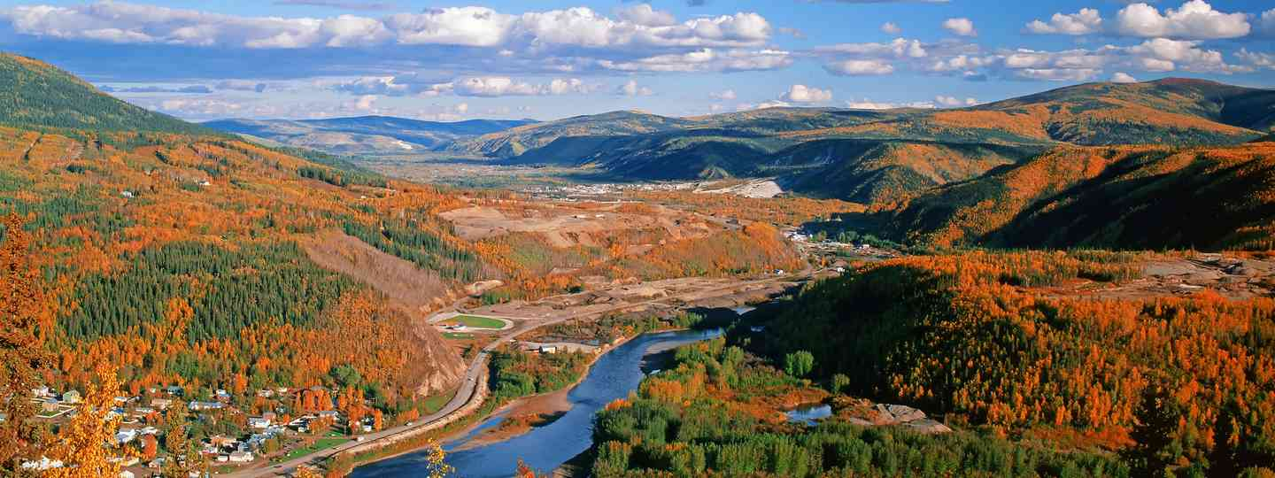 Looking over Dawson City (Shutterstock)
