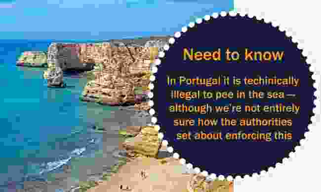 Did you know? Peeing in the sea in Portugal is illegal (Dreamstime)
